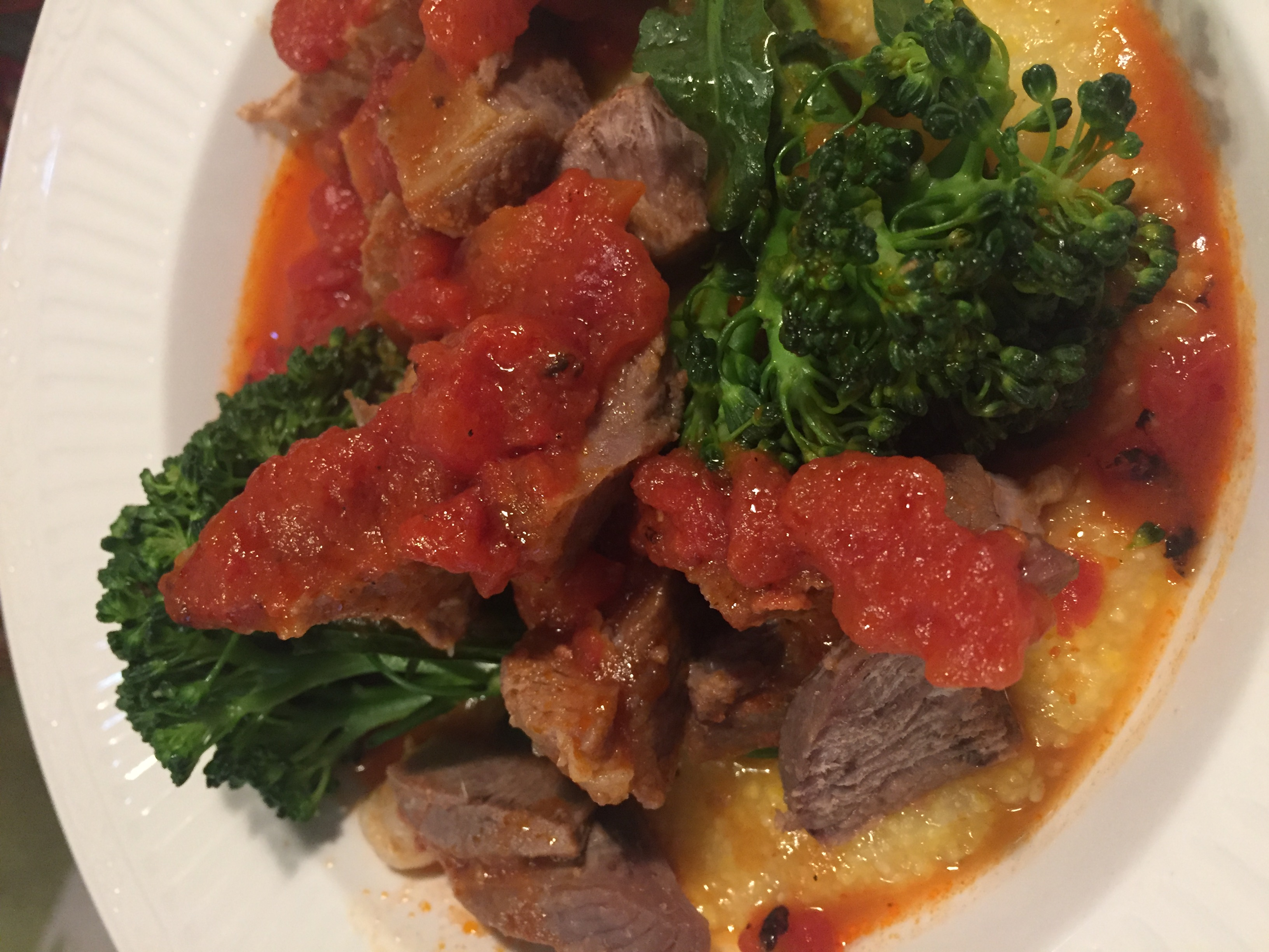 Lamb Steak with Polenta