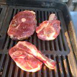 Raw Lamb steaks